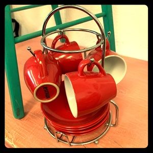 RETRO Imusa  Red Espresso set☕️❤️